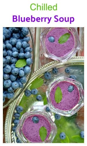 Celebrate the tastes of summer with this chilled blueberry soup recipe. It's perfect for that special lunch occasion or great for an everyday and informal summer cool-off at home. Taste this edible piece of art today.
