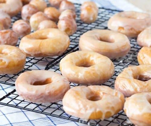 Working Together Reflections Original Glazed Donuts (Krispy Kreme Recipe Copycat) on Platter Talk
