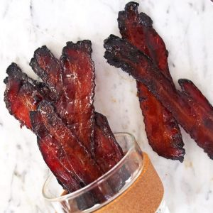 Maple and Coffee Glazed Bacon on Platter Talk