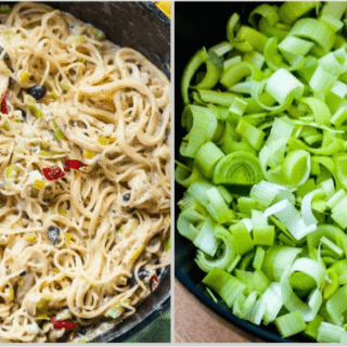 Perfect One-Pan Creamy Leek Capellini from And Cakes Too