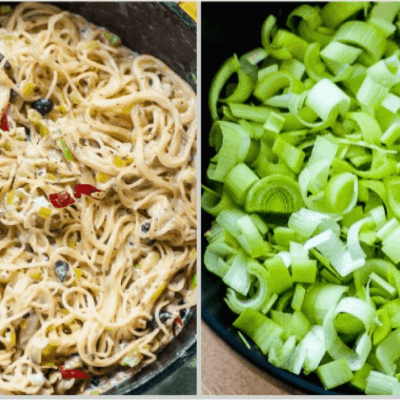 Perfect One-Pan Creamy Leek Capellini