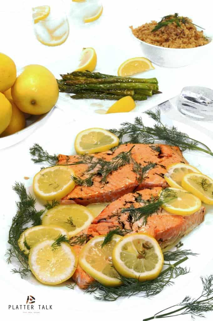 Lemon Dill Oven Roasted Salmon Recipe by Platter Talk