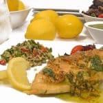 Pesto Stuffed Chicken Breast & Lemon Basil Sauce from Platter Talk