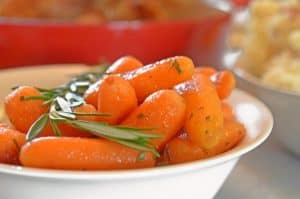Rosemary Butter Carrots Recipe from Platter Talk