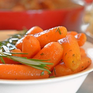 Roasted Rosemary Butter Carrots