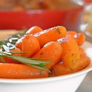 Rosemary Butter Carrots Recipe from Platter Talk