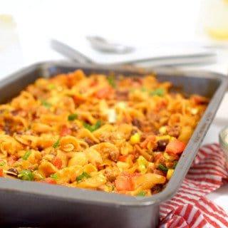 Taco Beef Noodle Casserole Recipe