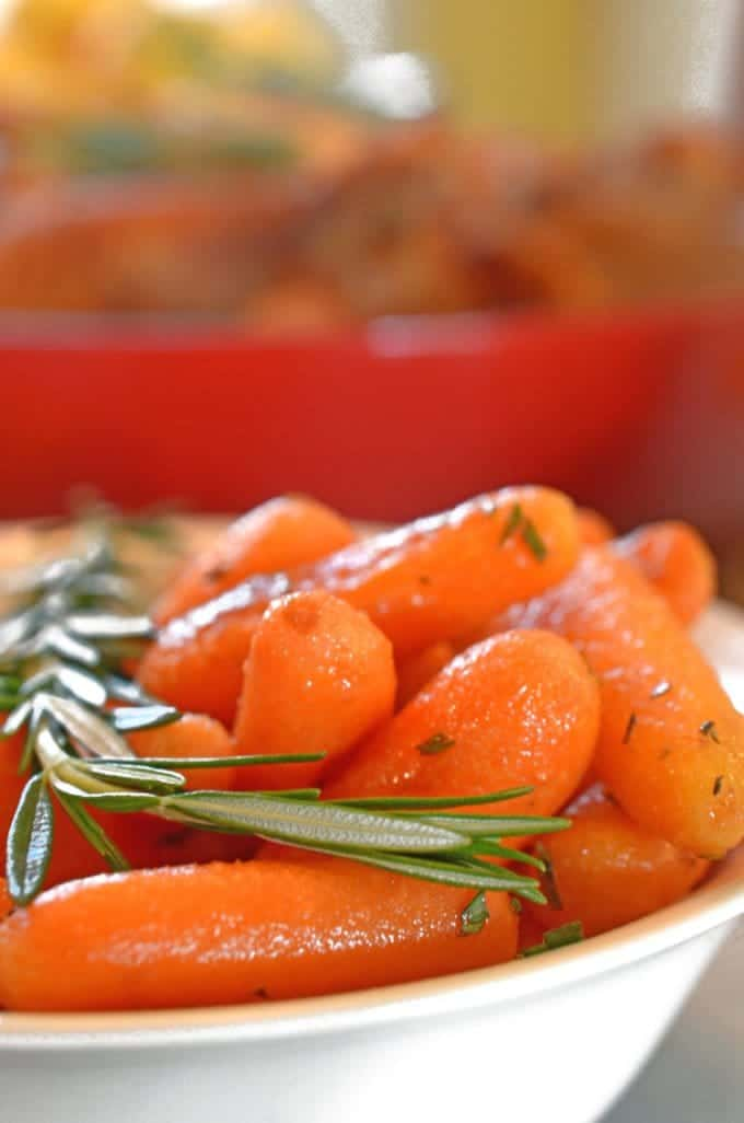 Roasted Rosemary Buttered Carrots Recipe from Platter Talk