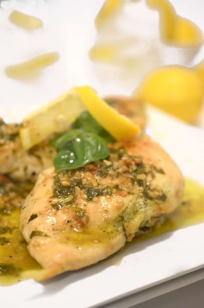 Pesto Stuffed Chicken Breast & Lemon Basil Sauce from Platter Talk