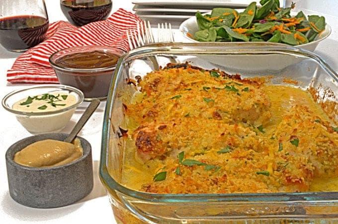 A casserole pan of food
