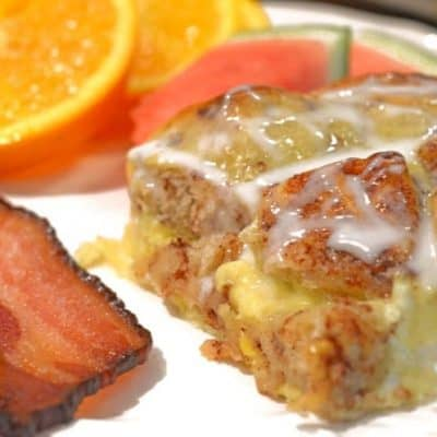 Cinnamon Roll Breakfast Egg Bake