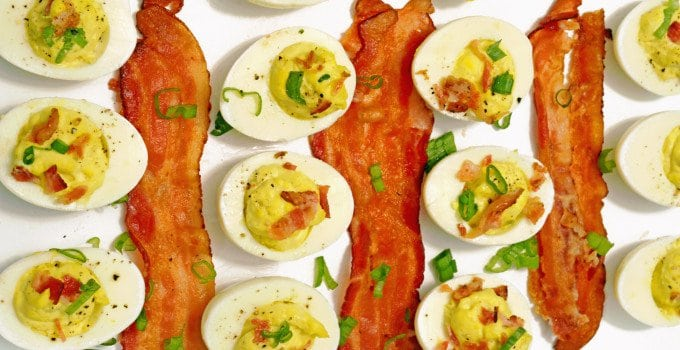 Bacon & Scallions Deviled Eggs Recipe