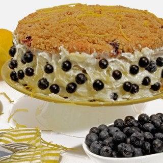 Blueberry Crumb Cake & Cream Cheese Lemon Twist Recipe from Platter Talk