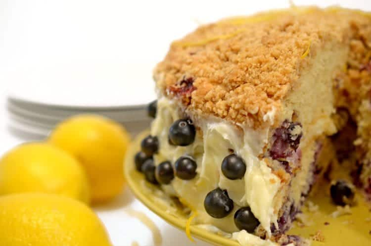 Lemon blueberry crumb cake recipe