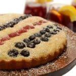 Red White & Blue Buckwheat Berry Cake