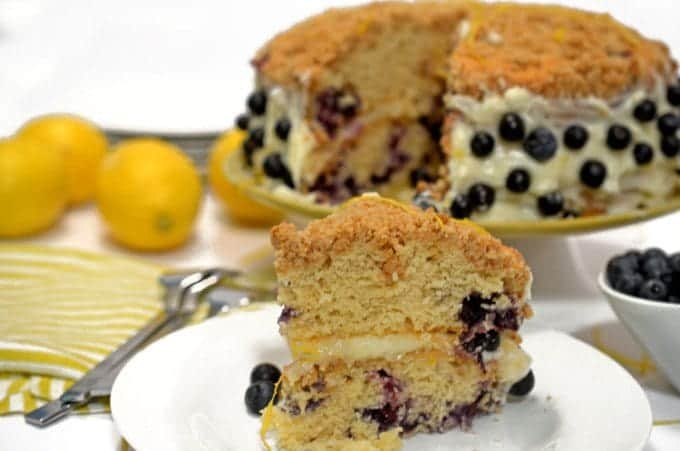 Blueberry Crumb Cake & Cream Cheese Lemon Twist Recipe from Platter Talk