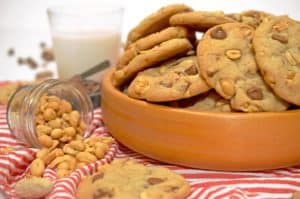 Salted Peanut Chocolate Chip Cookies Recipe from Platter Talk
