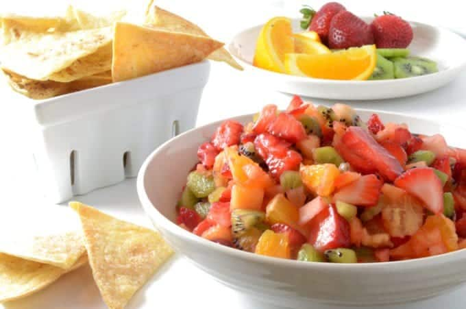 Fruit Salsa and Cinnamon Chips from Platter Talk
