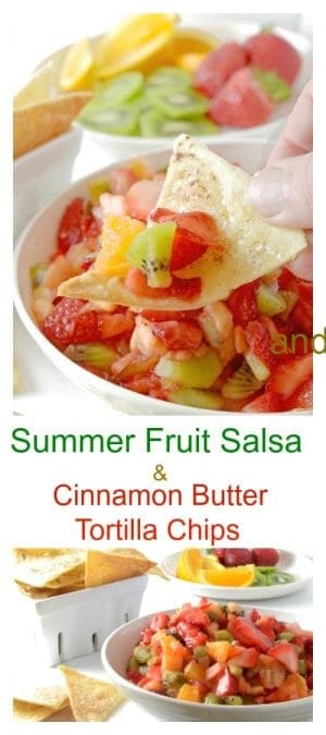 This Summer Fruit Salsa and Cinnamon Chips Recipe is cool, light, and full of summer.