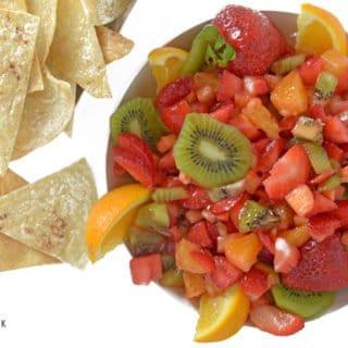 Summer Fruit Salsa & Cinnamon Butter Tortilla Chips from Platter Talk