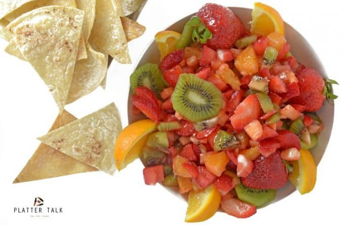 Stay cool this summer with Fruit Salsa and Cinnamon Chips from Platter Talk.
