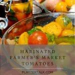 Bowl of marinated tomatoes