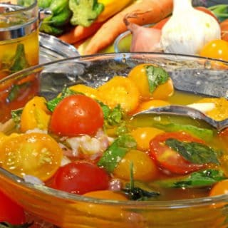Marinated Farmers Market Tomatoes Summer Recipe