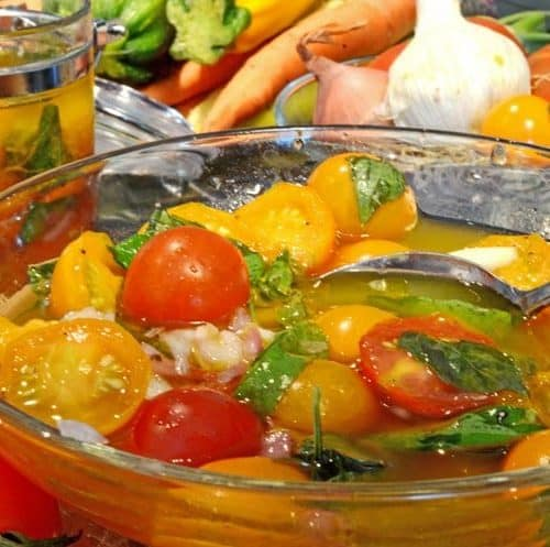 Marinated Farmers Market Tomatoes Recipe from Platter Talk