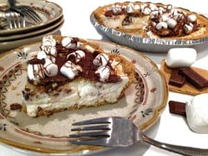 Easy No Bake S'more Cheesecake Pie Recipe from Platter Talk