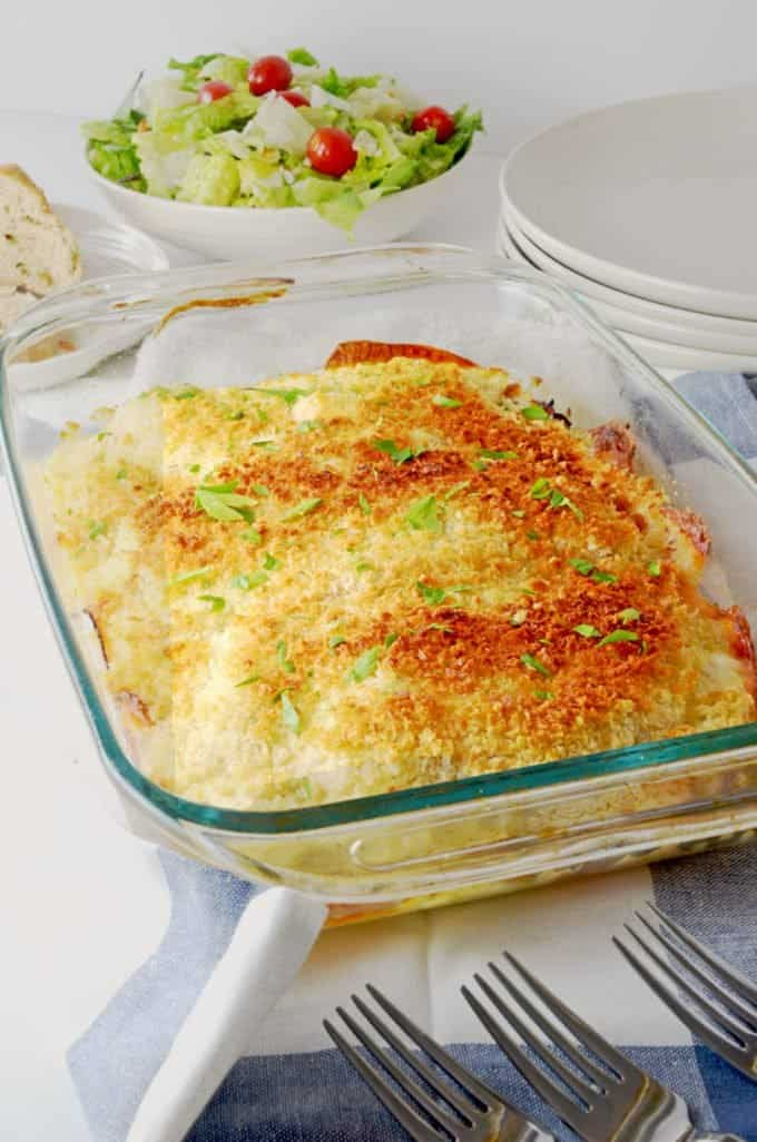 Ranch Style Chicken Cordon Bleu Casserole - Just 5 Ingredients