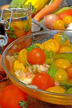 Farmers Market Marinated Tomatoes Recipe from Platter Talk