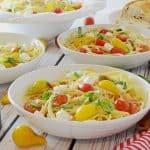 Spaghetti Caprece con Pomodori Marinati