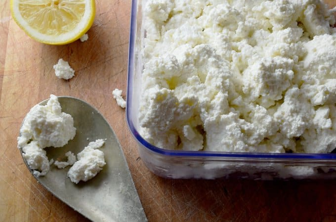 teaspoon and ricotta cheese In a small bowl whisk together the egg, ricotta cheese, lemon juice and lemon extract (if using), then add to flour and butter mixture use a fork to stir everything together until just moistened don't worry if it looks clumpy at this point.