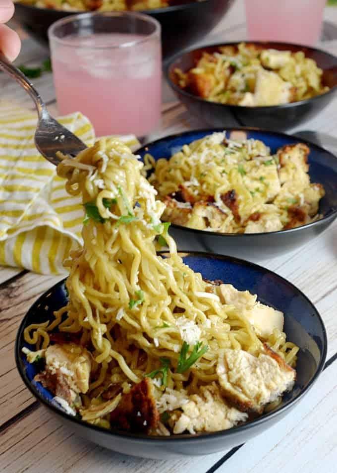 Crispy Chicken Ramen Noodles Recipe from Platter Talk