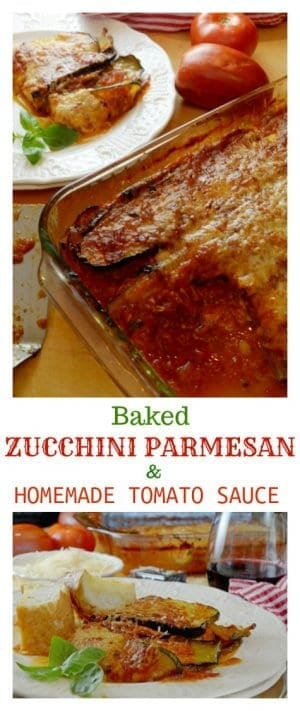 Baked Zucchini Parmesan with Homemade Tomato Sauce is a healthy and carb-free meal that is an unbelievably simple recipe to make. This mea will make you wish summer would never end.