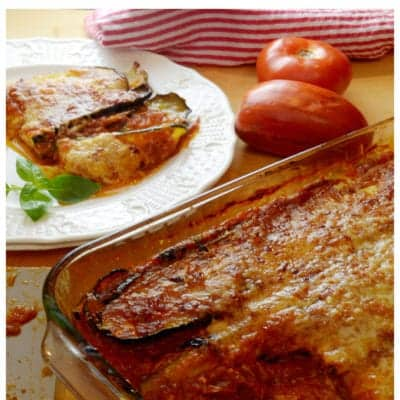 Baked Zucchini Parmesan with Homemade Tomato Sauce