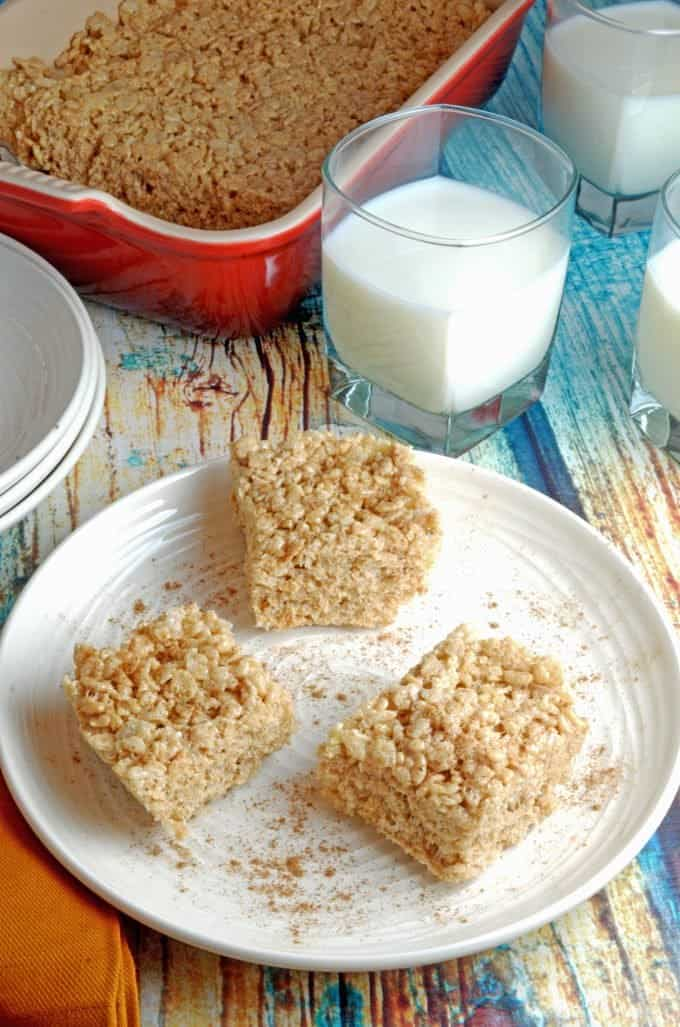 Pumpkin Spice Rice Krispie Treats Recipe with Brown Butter from Platter Talk