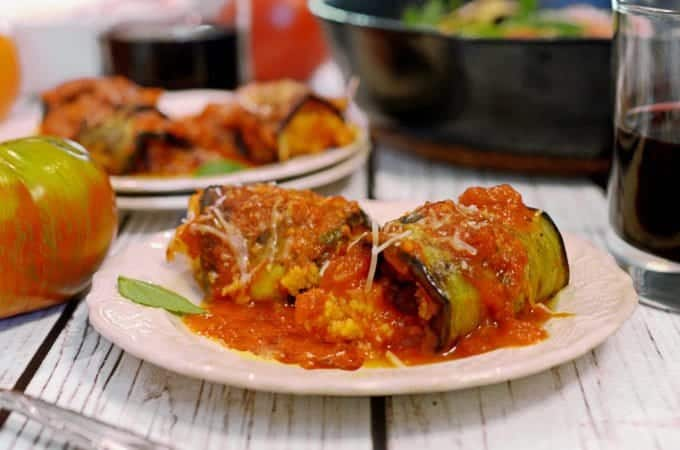 Grilled Eggplant Involtini Recipe from Platter Talk