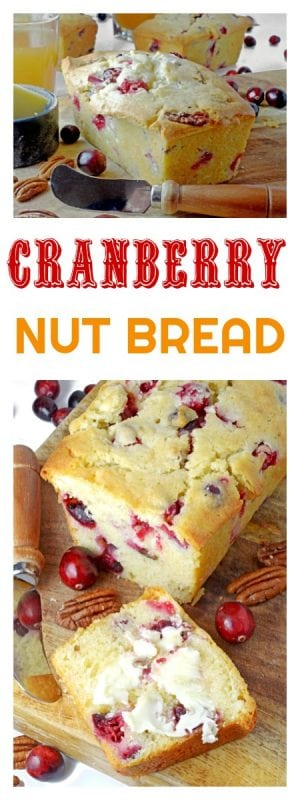 Cranberry Nut Bread is a holiday dessert bread that tastes great all year long!