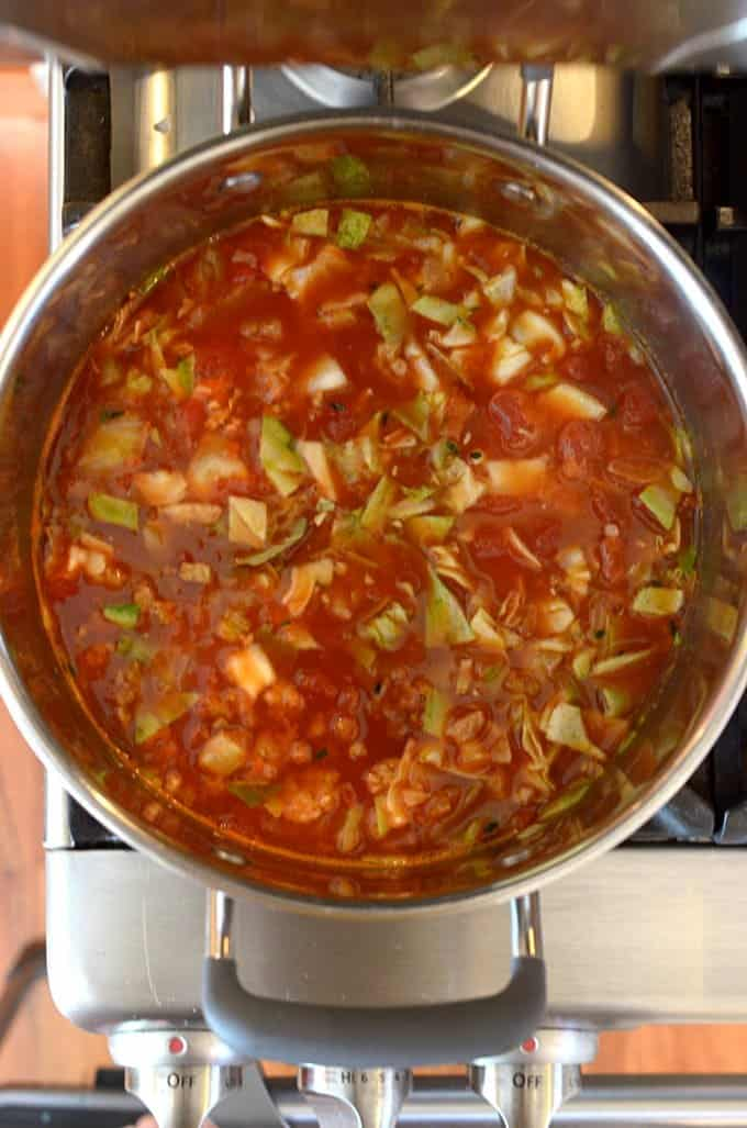 Golumpki (Stuffed Cabbage) Soup Recipe from Platter Talk