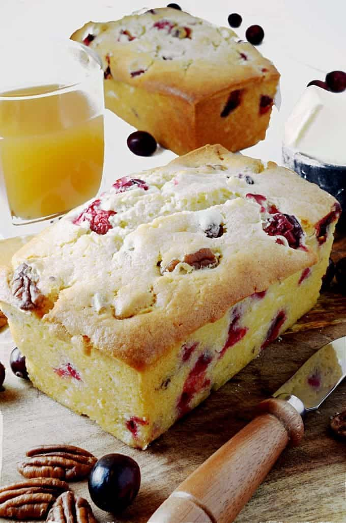 Make cranberry bread as a Dutch oven bread.