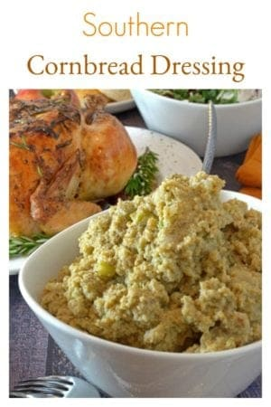 Cornbread Dressing is a sage dressing that has been a southern family tradition for generations. Learn how to make cornbread dressing with this recipe video. You can even make this southern cornbread dressing ahead of time and freeze it until the holidays arrive! Use this as a chicken dressing or traditional turkey dressing.
