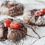 Cherry Chocolate Thumbprint Cookies