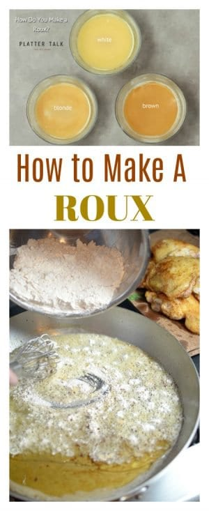 "If ypu have ever asked, ""How do you make a roux"", Platter Talk has the step by step guide on makig a roux and turing it into a luscious gravy recipe for your favorite holiday meal."