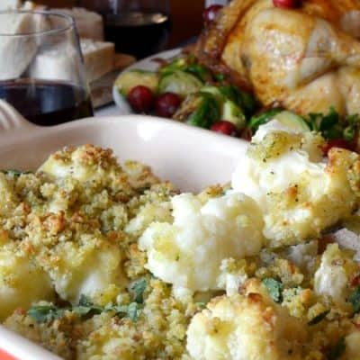 Cauliflower Gratin in Horseradish Sauce
