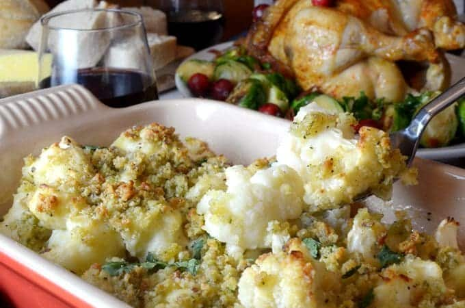 Cauliflower Gratin is a savory cauliflower au gratin recipe.
