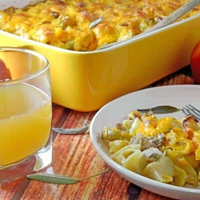 Apple & Sausage Mac and Cheese with Apple Cider