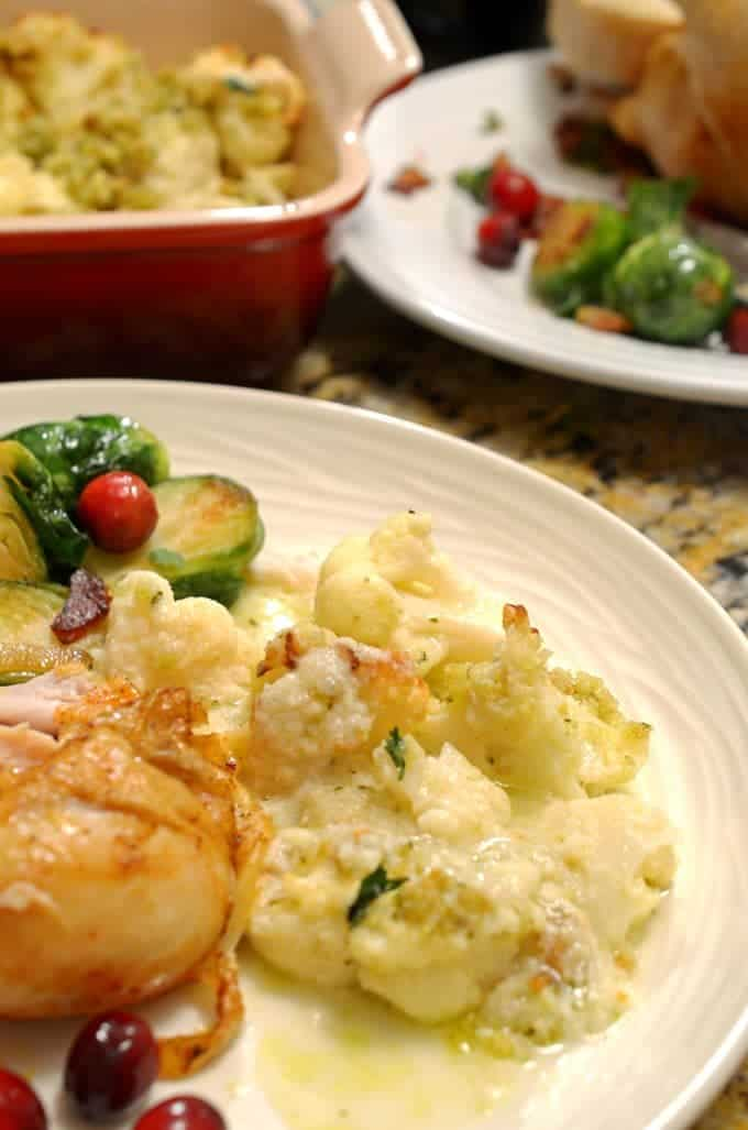 This cauliflower gratin is a lively cauliflower recipe.