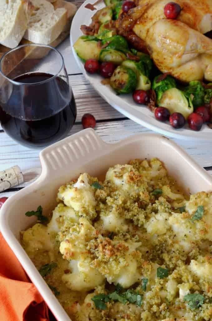 Cauliflower Gratin in Horseradish Sauce.