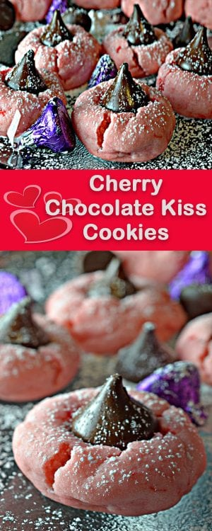 Cherry Chocolate Kiss Cookies from Platter Talk.
